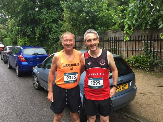 Steven from Larne AC and Andy from BAC